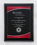 Black Piano Finish Plaque with Red Acrylic Plate 9