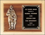 Fireman Plaque with Antique Bronze Finish Casting. 9