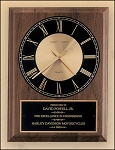 American Walnut Vertical Wall Clock 8