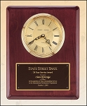 Rosewood Piano Finish Vertical Wall Clock 10-1/2