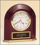 Rosewood Piano Finish Arched Desk Clock 5-5/8