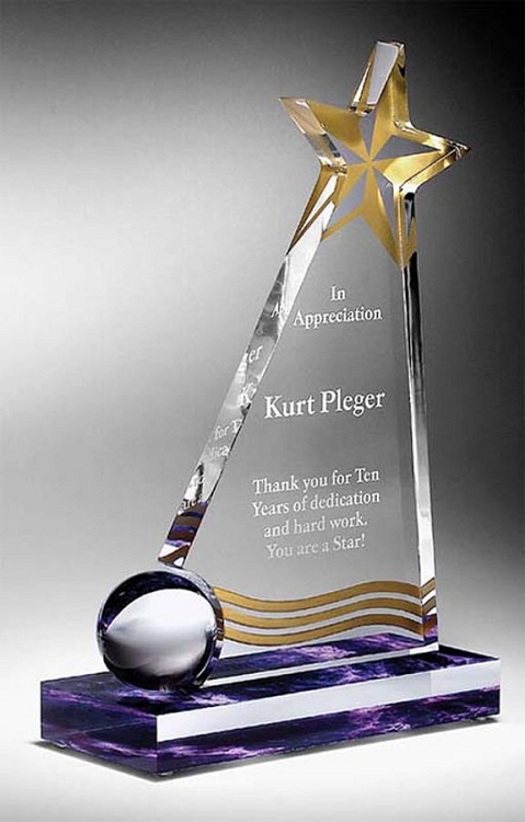 Slanted Star Crystal Paperweight |Slanted Star