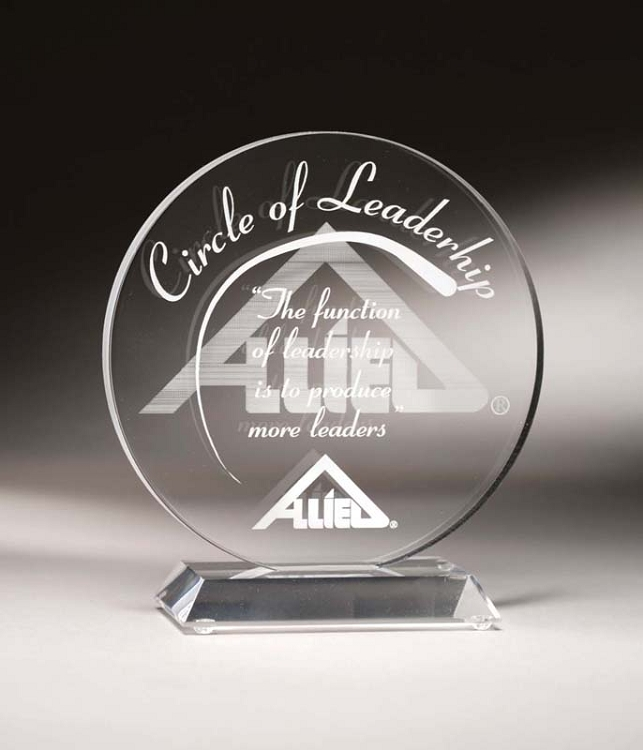The Circle Clear Acrylic Award from Awards Zone  High quality Laser  Engraving Acrylic Awards  9