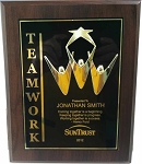 Teamwork Plaque Award