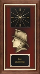 Fireman Award Plaque with Clock