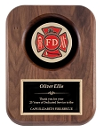 Fireman Walnut Insignia Plaque