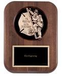 Fireman Child Casting Plaque