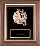 Fireman Child Casting Frame Plaque