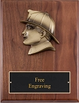 Fireman Head Plaque