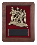 Fireman Teamwork Plaque