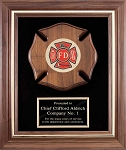 Fireman Maltese Cross Plaque