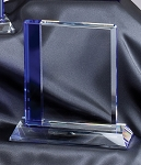 Optical Crystal Award Rectangle Cool Blue Series