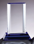 Optical Crystal Award Cool Blue Series