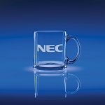 Clear Tempered Coffee Mug 3.75