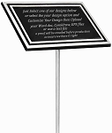 Outdoor Aluminum Memorial Plaque 4x6