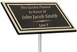 Outdoor Memorial Holly™ Bronze 6x8 Plaque