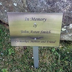 6X8 Stainless Steel Dedication/Memorial Lawn or Garden Sign