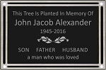 Outdoor Dedication or Memorial Plaque 8x10