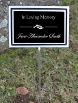 Outdoor Aluminum Memorial 8x10 Plaque
