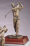 Elegant Resin Golf Sculpture Male Golf Swing 16