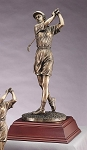 Elegant Resin Golf Sculpture Female Golf Swing 15 1/2