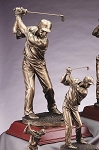 Elegant Resin Golf Sculpture Male Driver 16 1/2
