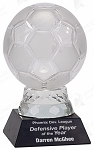 5 1/4 inch Glass Soccer Ball with Marble Base
