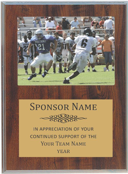 economy cherry sponsor or team plaque  low cost and free shipping