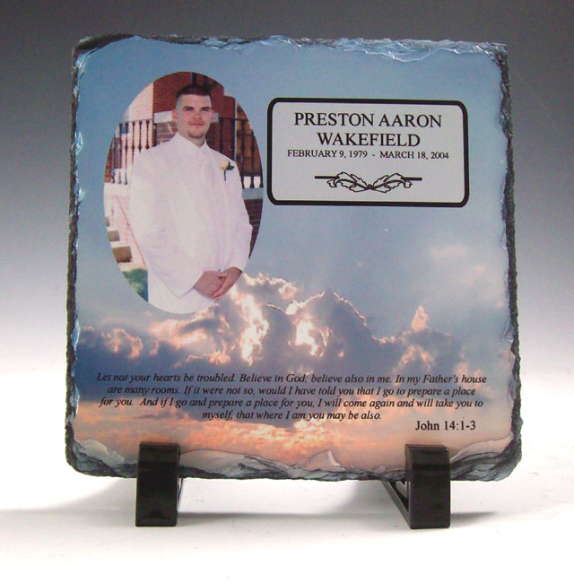 Memorial Plaque Desk Gift