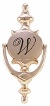 Personalized Oval Brass Door Knocker