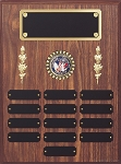 Black Perpetual Plaque