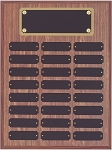 Perpetual Plaque Featuring 24 Black Plates