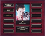 Mahogany Series Perpetual Picture Award Plaque