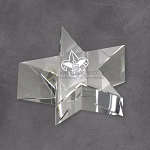 Crystal Star Paperweight Clear 2