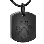 Paw Print Pet Ashes Urn Pendant - Cremation Jewelry