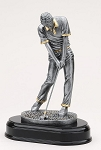 Resin Sculpture Male Golfer Desk Item