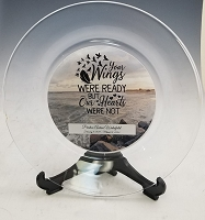 Personalized Memorial Glass Plate with Stand