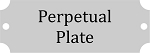 Perpetual Plate Silver Finish w/Black Lettering