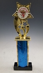Traditional Wide Single Column Trophy
