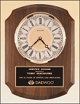 American Walnut Vertical Wall Clock. 10-1/2