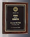 Economy Cherry Award Plaque with Gold Back Plate