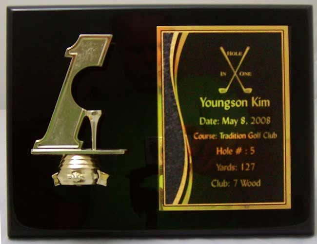 Hole In One Golf Ball Holder Plaque