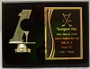Hole in One Black Piano Finished Plaque