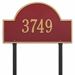 Red Gold Arch Marker Estate Lawn One Line