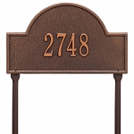 Antique Copper Arch Marker Standard Lawn One Line