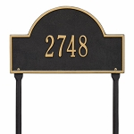 Black Gold Arch Marker Standard Lawn One Line