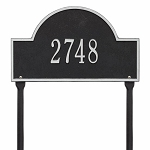Black Silver Arch Marker Standard Lawn One Line