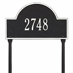 Black White Arch Marker Standard Lawn One Line
