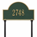 Green Gold Arch Marker Standard Lawn One Line