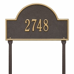 Bronze Gold Arch Marker Standard Lawn One Line